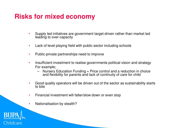 Risks for mixed economy