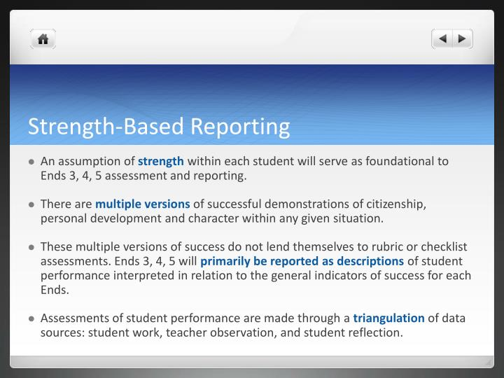 Strength-Based Reporting