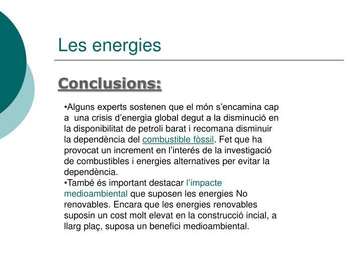 Les energies