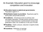 an example education grant to encourage competition and innovation