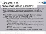 consumer and knowledge based economy