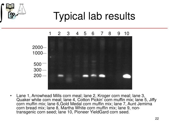 Typical lab results