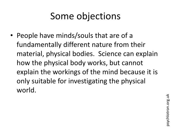 Some objections