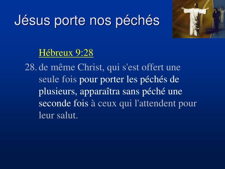 Jésus porte nos péchés