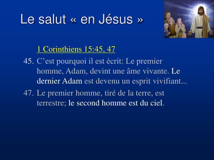 Le salut « en Jésus »