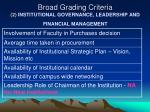 broad grading criteria 2 institutional governance leadership and financial management2