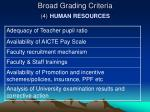broad grading criteria 4 human resources