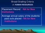 broad grading criteria 4 human resources3