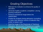 grading objectives