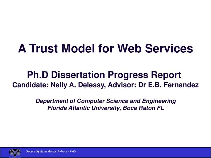 A Trust Model for Web Services