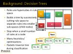 background decision trees