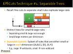efficuts technique 1 separable trees