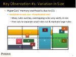 key observation 1 variation in size