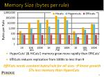 memory size bytes per rule