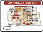 unit plan type 2 3850 sq ft