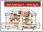 unit plan type 3 4545 sq ft