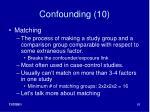 confounding 10