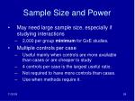 sample size and power1