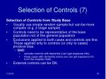 selection of controls 7