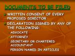 documents to be filed1