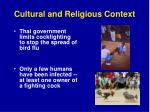 cultural and religious context