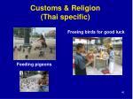 customs religion thai specific