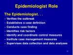 epidemiologist role