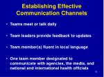 establishing effective communication channels