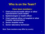 who is on the team