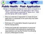 public health post application