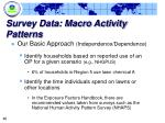 survey data macro activity patterns1