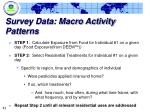 survey data macro activity patterns2
