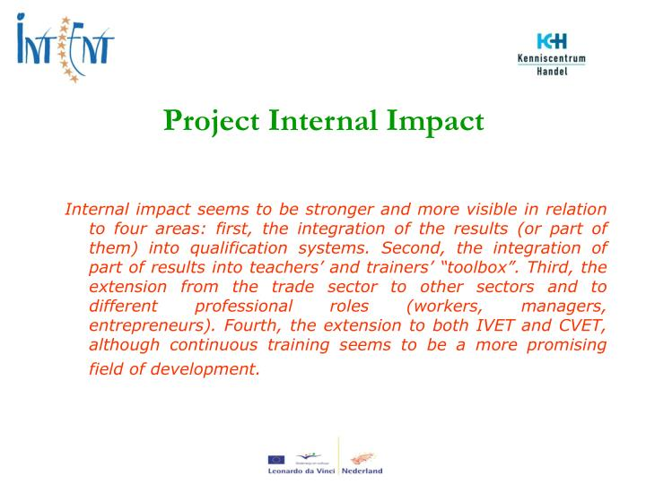 Project Internal Impact