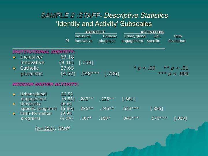SAMPLE 2 :STAFF-