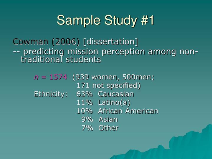 Sample Study #1
