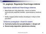 14 poglavje regulacija finan nega sistema