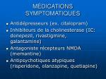 m dications symptomatiques