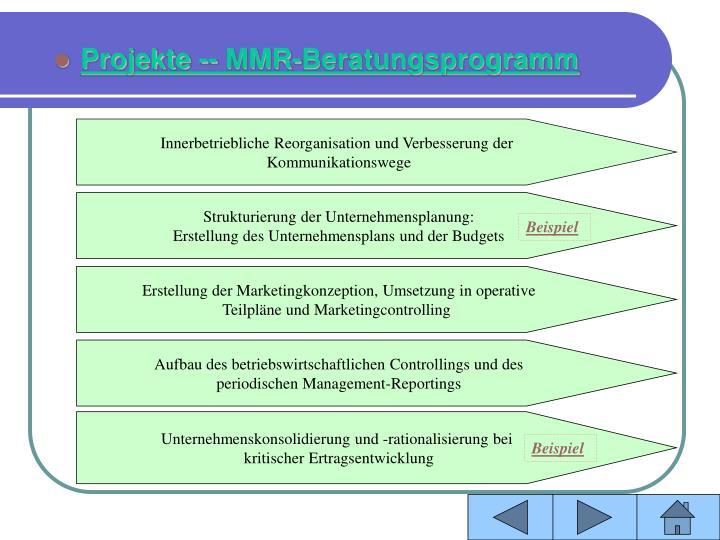 Innerbetriebliche Reorganisation und Verbesserung der