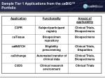 sample tier 1 applications from the cabig portfolio