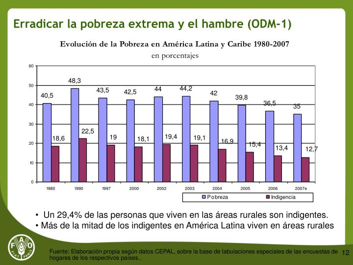 Erradicar la pobreza extrema y el hambre (ODM-1)
