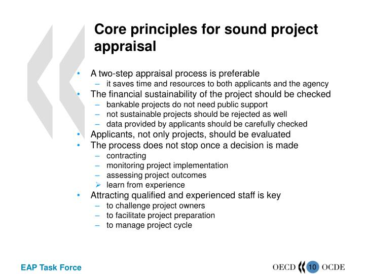 Core principles for sound project appraisal