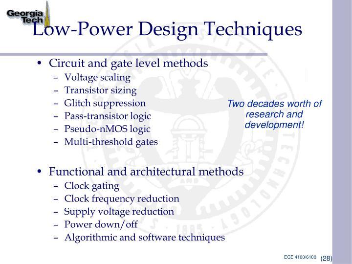 Low-Power Design Techniques