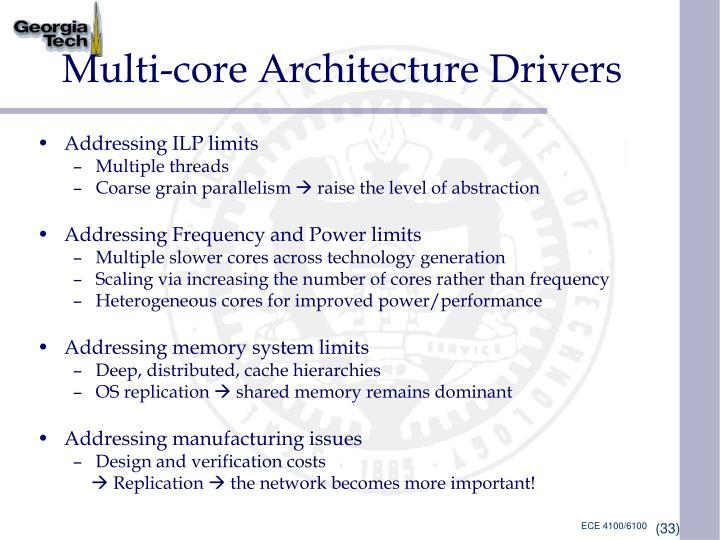 Multi-core Architecture Drivers
