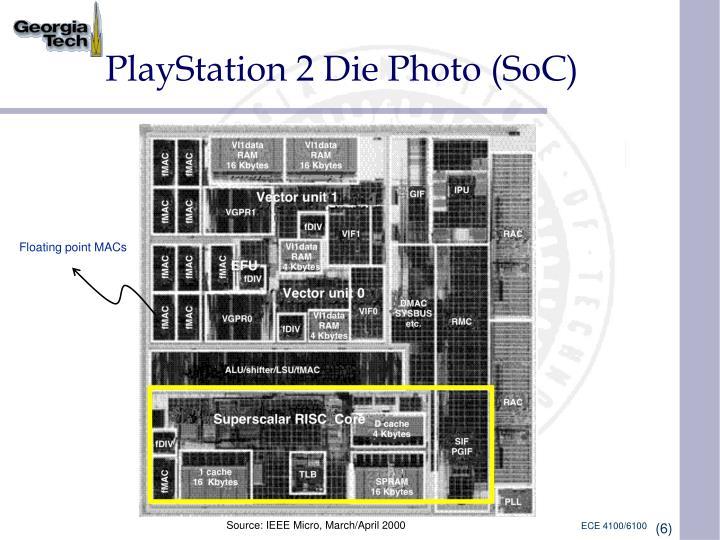PlayStation 2 Die Photo (SoC)