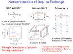 network models of replica exchange
