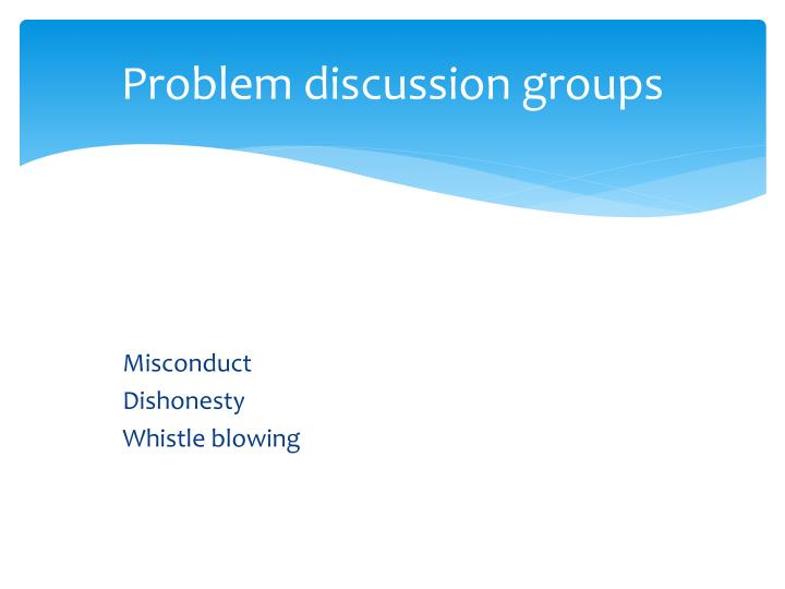 Problem discussion groups