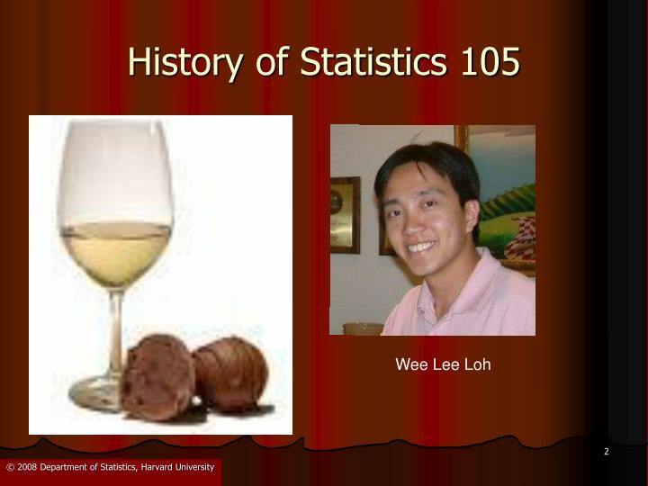 History of statistics 105