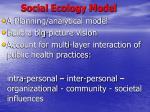 social ecology model