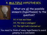 4 multiple hypotheses