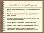 general model of strategic management1